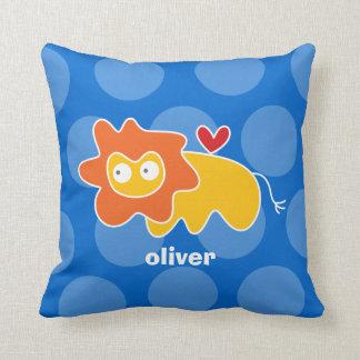 Cartoon Cute Lion Love Whimsical Kids Cushion