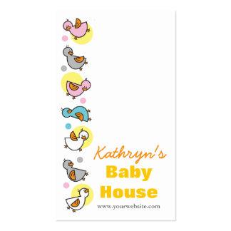 Cartoon Cute Pastels Fun Duckies Business Card
