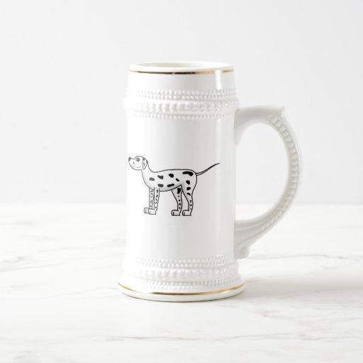 Cartoon Dalmatian Dog Coffee Mug