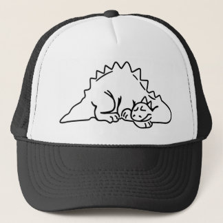 Cartoon Dino Trucker Hat