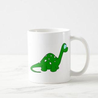 Cartoon Dinosaur Basic White Mug