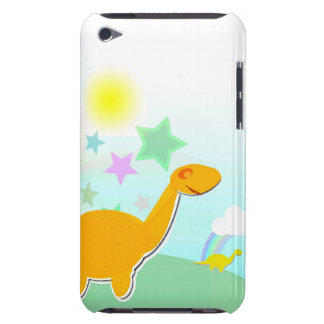 Cartoon Dinosaurs & Color Stars Rainbow iPod Touch Barely There iPod Cases
