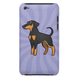 Cartoon Doberman Pinscher (floppy ears) iPod Touch Case-Mate Case