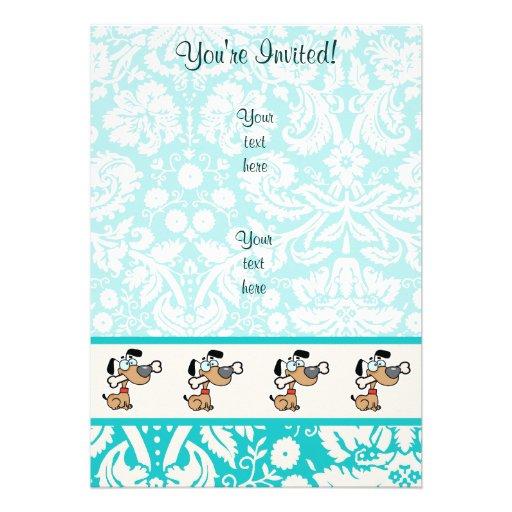 Cartoon Dog; Cute Custom Announcement