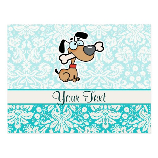 Cartoon Dog; Cute Post Cards