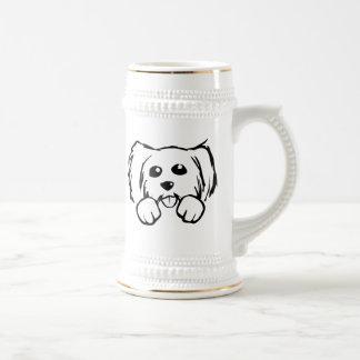 Cartoon Dog Face Coffee Mug