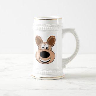 Cartoon Dog Face Beer Steins