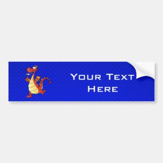 Cartoon Dragon; Blue Car Bumper Sticker