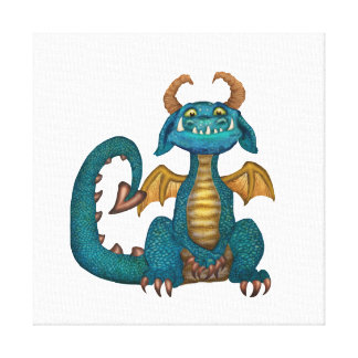 Cartoon Dragon Canvas Print (unsigned)