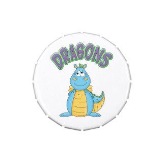 Cartoon Dragon Custom Birthday Party Favor Jelly Belly Candy Tins