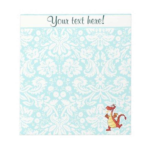 Cartoon Dragon; Cute Notepad