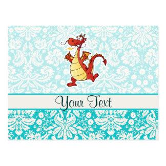 Cartoon Dragon; Cute Post Card
