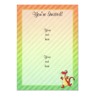 Cartoon Dragon Design 5x7 Paper Invitation Card