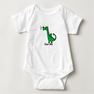 Cartoon Dragon Fear Me Baby Bodysuit