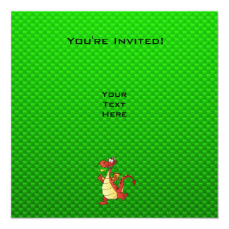 Cartoon Dragon; Green Invites