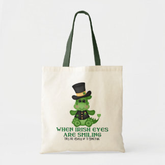 Cartoon Dragon Holiday Tote Bag