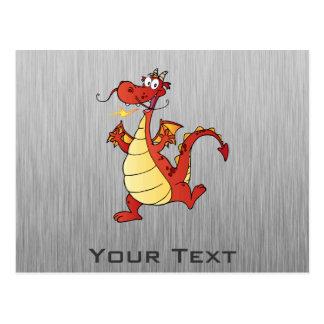 Cartoon Dragon; Metal-look Post Cards