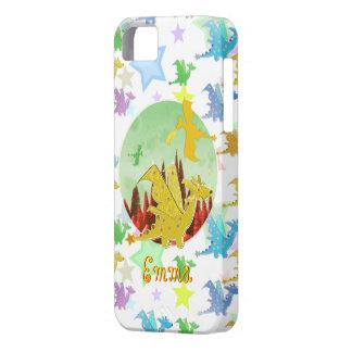 Cartoon Dragon Pattern customizable name Emma iPhone 5 Covers