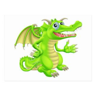 Cartoon Dragon Postcards