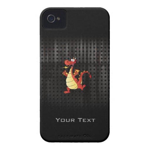 Cartoon Dragon; Rugged Case-Mate iPhone 4 Cases