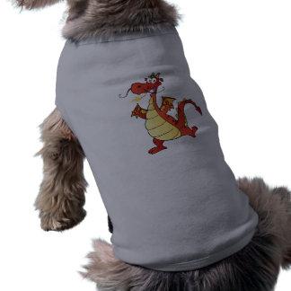 Cartoon Dragon; Rugged Sleeveless Dog Shirt