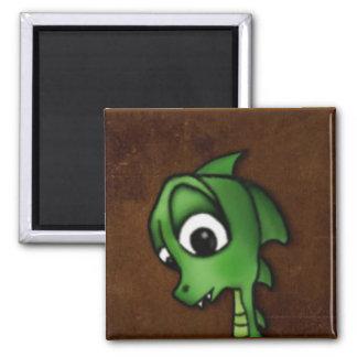 Cartoon Dragon Square Magnet
