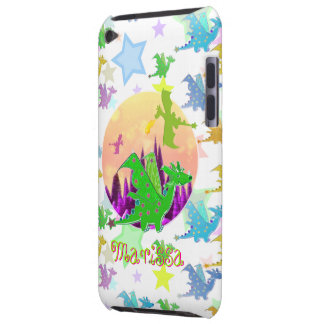 Cartoon Dragons with name Marissa iPod Touch Case-Mate Case