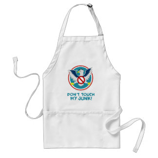 Cartoon Eagle Don't Touch My Junk Funny TSA Logo Standard Apron