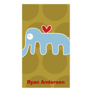 Cartoon Elephant Kid Fun Custom Photo Profile Card Business Card