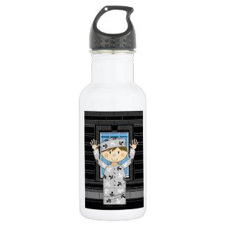 Cartoon Escaped Prisoner 532 Ml Water Bottle