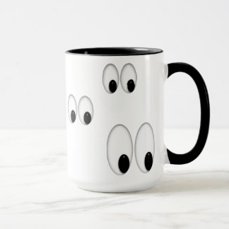 Cartoon Eyes Funny boss coffee mug