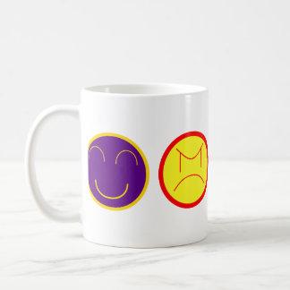 cartoon faces basic white mug