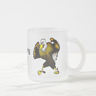 Cartoon Fighting Eagle Frosted Glass Mug