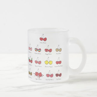 Cartoon Fun Comic Funny Cheeky Red Cherries Cherry Frosted Glass Mug