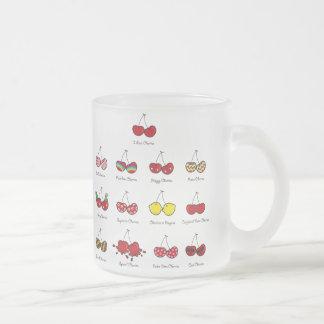 Cartoon Fun Comic Funny Cheeky Red Cherries Cherry Frosted Glass Mug