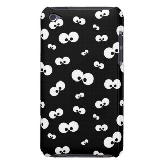 cartoon funny eyes over black background iPod Case-Mate cases