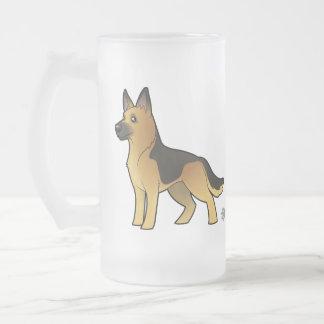 Cartoon German Shepherd Mug
