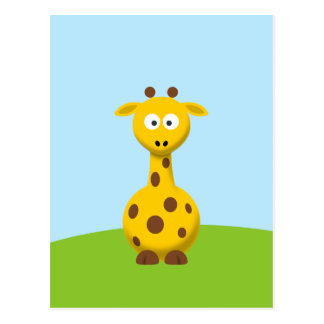 Cartoon Giraffe Postcard