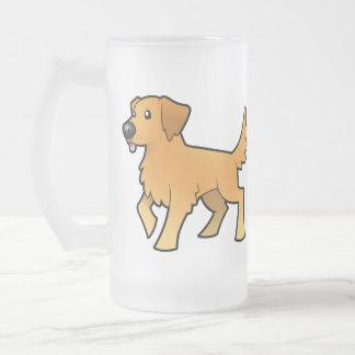 Cartoon Golden Retriever Coffee Mugs