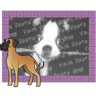 Cartoon Great Dane Photo Sculpture Magnet