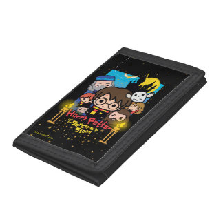 Cartoon Harry Potter and the Sorcerer's Stone Tri-fold Wallets