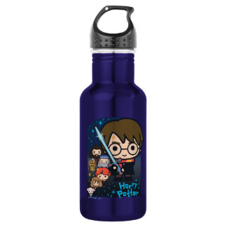 Cartoon Harry Potter Chamber of Secrets Graphic 532 Ml Water Bottle