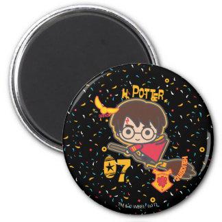 Cartoon Harry Potter Quidditch Seeker Magnet