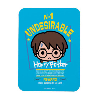 Cartoon Harry Potter Wanted Poster Graphic Magnet