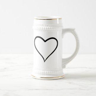 Cartoon Heart Beer Steins