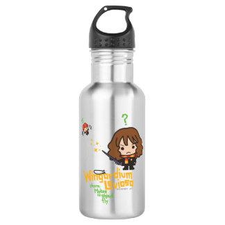 Cartoon Hermione and Ron Wingardium Leviosa Spell 532 Ml Water Bottle