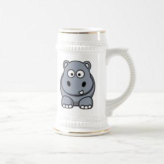 Cartoon Hippo Coffee Mugs