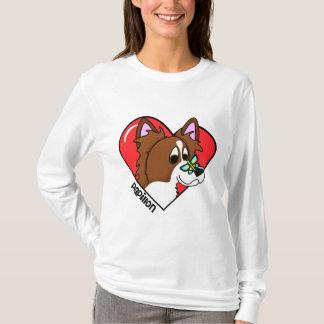 Cartoon I Love my Papillon Ladies' T-Shirt