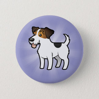 Cartoon Jack Russell Terrier 6 Cm Round Badge