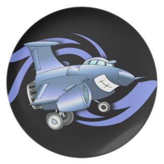 Cartoon Jet Plane Plate